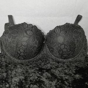"PINK by Victoria's Secret ""Date Push-up"" black bra"